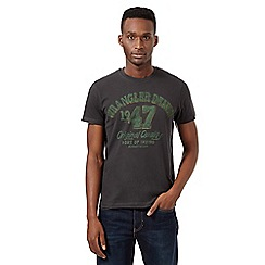Wrangler - Big and tall dark grey logo print t-shirt
