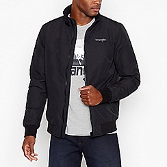 Wrangler - Big and tall black padded shower resistant jacket