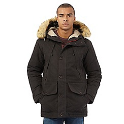 Wrangler - Big and tall dark brown blizzard parka jacket
