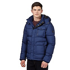 Wrangler - Big and tall blue padded guard jacket