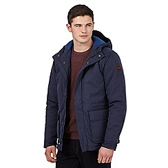 Wrangler - Big and tall blue zipped pea coat