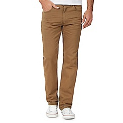 Lee - Big and tall taupe straight fit chinos