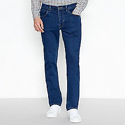 Lee - Big and tall blue stretch straight jeans