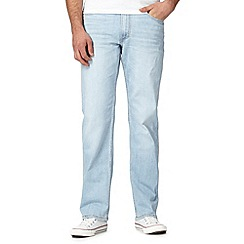 Lee - Light blue vintage wash straight fit jeans