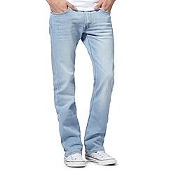 Lee - Light blue vintage wash slim bootcut jeans