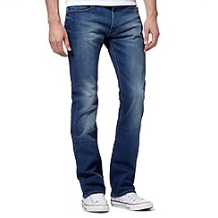 Lee - Blue mid wash slim bootcut jeans