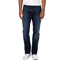 Lee - Big and tall blue mid wash jeans