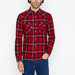 Lee - Red western checked shirt