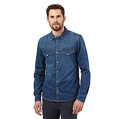 Lee - Blue denim long-sleeved shirt