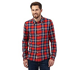 Lee - Red long-sleeved checked shirt