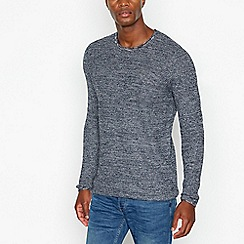Lee - Navy twill long sleeved shirt
