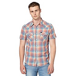 Lee - Orange western style checked shirt