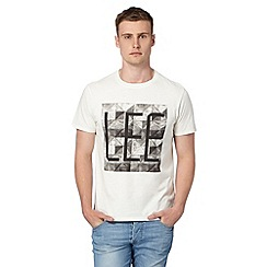 Lee - White logo crew neck t-shirt