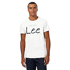 Lee - White heritage logo t-shirt