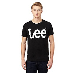 Lee - Black Lee logo t-shirt