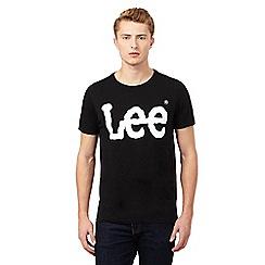 Lee - Black Lee logo t-shirt
