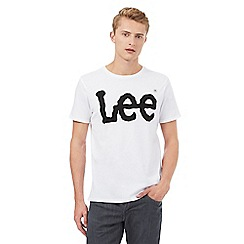 Lee - White Lee logo t-shirt
