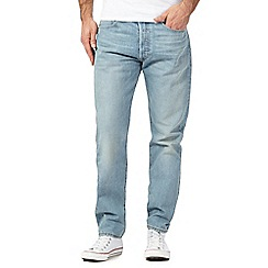 Levi's - 501® vintage wash light blue straight jeans