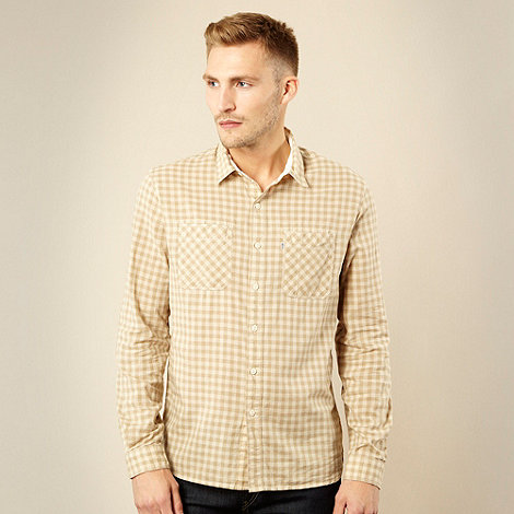 Levi+s - Beige checked work shirt