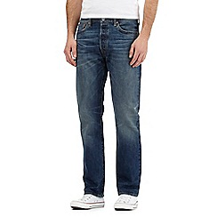 Levi's - Blue 501 straight fit jeans