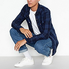 Levi's - Blue checked western style shirt