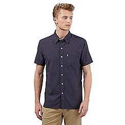 Levi's - Navy spotted textured shirt