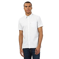 Levi's - White textured dot short sleeved shirt