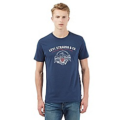 Levi's - Navy logo print t-shirt