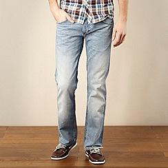 Wrangler - Light blue Crank blast straight leg jeans