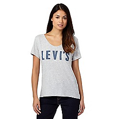 Levi's - Grey polka dot logo t-shirt