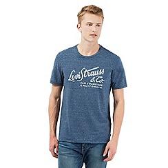 Levi's - Blue scripted print t-shirt
