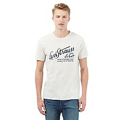 Levi's - Off-white scripted print t-shirt