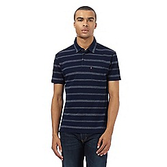 Levi's - Navy 'Sunset Stripe' polo shirt