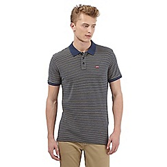 Levi's - Navy striped polo shirt