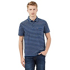 Levi's - Navy textured striped polo shirt