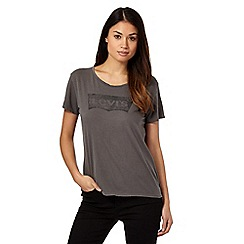 Levi's® - Dark grey 'Batwing' t-shirt