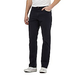 Wrangler - Big and tall navy regular fit leg texas jeans