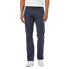 Wrangler - Navy textured line trousers