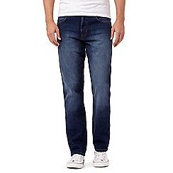 Wrangler - Big and tall blue mid wash regular fit jeans