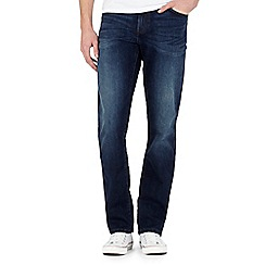 Wrangler - Texas dark blue stretch straight jeans