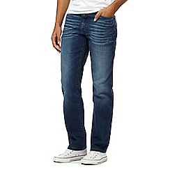 Wrangler - Big and tall texas blue mid wash stretch denim jeans
