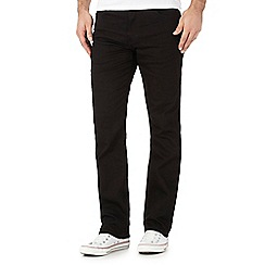 Wrangler - Big and tall arizona black raw wash straight jeans