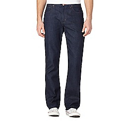 Wrangler - Big and tall arizona dark blue straight jeans