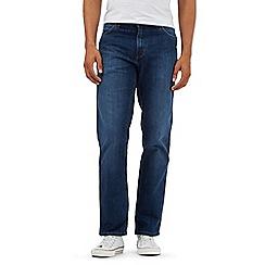 Wrangler - Dark blue mid wash Texas jeans