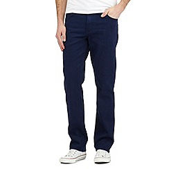 Wrangler - Texas dark blue rinse stretch jeans