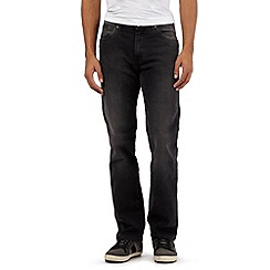 Wrangler - Big and tall dark grey regular fit arizona jeans