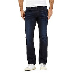 Wrangler - Big and tall dark blue mid wash coolmax 'Arizona' straight leg stretch jeans