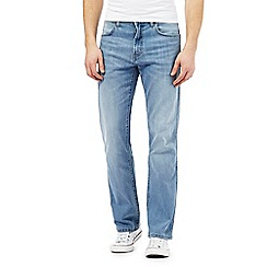 Wrangler - Light blue light wash rain ready 'Arizona' jeans
