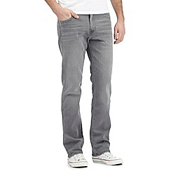 Wrangler - Arizona grey mid wash stretch jeans