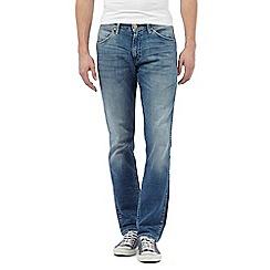 Wrangler - Mid wash slim fit jeans